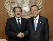 Secretary-General Ban Ki-moon with Former Prime Minister Prodi