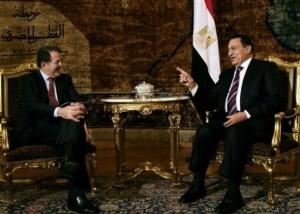 con Hosni Mubarak