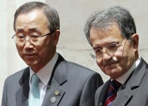 Romano Prodi e Ban Ki Moon