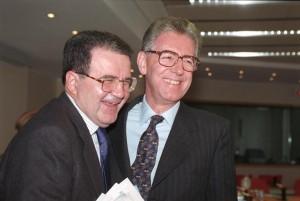 Romano Prodi con Mario Monti