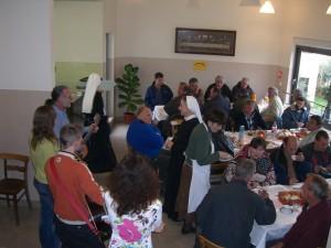 Pasqua in una mensa della Caritas