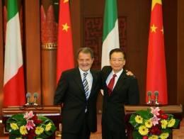 Romano Prodi con Wen Jiabao - 18 settembre 2006