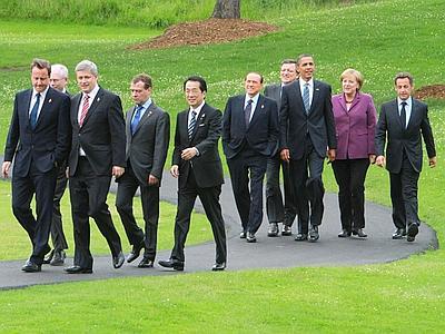 I leaders del G8 ieri a Toronto