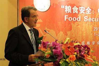 Prodi all' International Symposium of Food Security symposium di Shangai