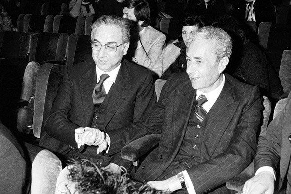 Francesco Cossiga con Aldo Moro
