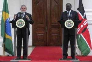 Il presidente Brasiliano Lula durante il suo undicesimo viaggio in Africa