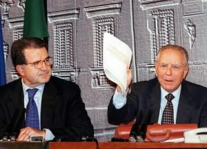 Prodi e Ciampi (presentazione della manovra economica 1997)