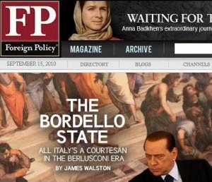 Copertina di Foreign Policy 14/09/2010