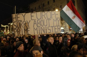 Dimostrazioni contro Victor Orban a Budapest