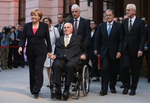 Angela Merkel, Helmut Kohl, Romano Prodi e Hans-Gert Pottering