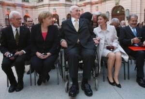 Hans-Gert Pottering, Angela Merkel, Helmut Kohl, Maike Kohl-Richter e Romano Prodi