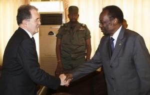 Romano Prodi con il presidente del Mali Dioncounda Traoré