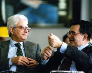Sergio Mattarella con Romano Prodi (1996)